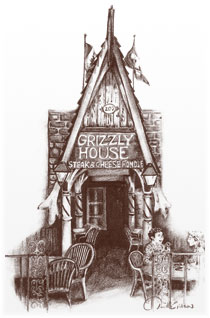 The Front of Grizzly House