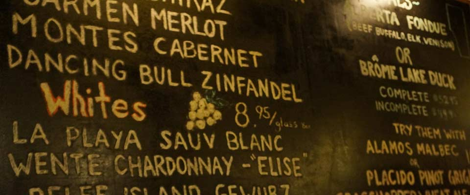 The Wine Calkboard